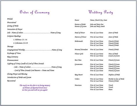 wedding bulletin 25 best ideas about program template on wedding program templates fan wedding