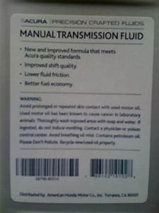 Acura Manual Transmission Fluid - Honda-tech