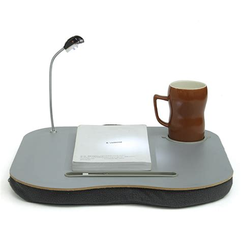 cushioned desk with cup holder new portable laptop desk bed laptop cushion knee