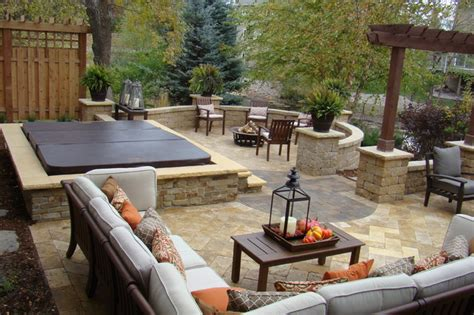 backyard retreats backyard retreat traditional patio minneapolis by superior lawn and landscape