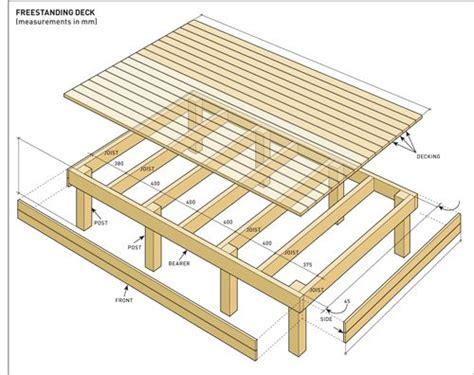 build  freestanding deck decking