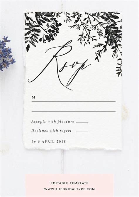 calligraphy rsvp card floral border rsvp card classic