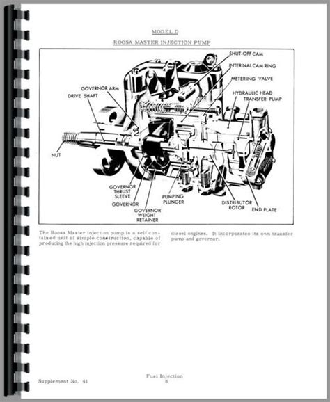allis chalmers  injection pump service manual