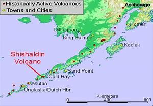 Location Map of Shishaldin Volcano, Alaska