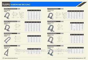M6 D Shape Shackle Stainless Steel Sus 316 Anchor Shackle