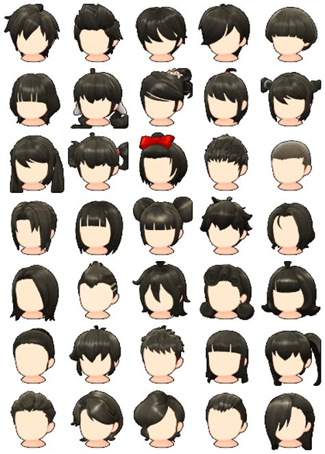 maplestory hair style pc computer maplestory 2 hair styles the spriters 5052