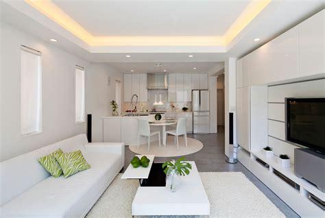 White Kitchen Design Ideas - modern zen design house in tokyo japan