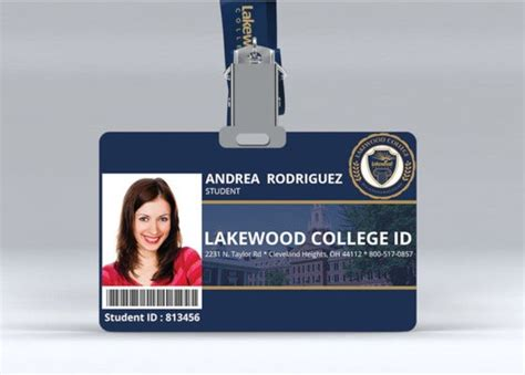 college id card templates  word pages psd