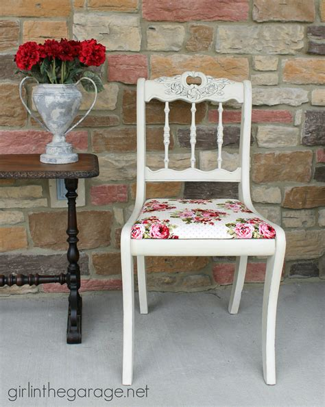 shabby chic chair makeover in the garage 174