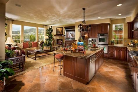 pictures of open floor plan kitchens classic open kitchen and minimalist living room decors 9130