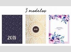 3 Agendas 2018 sin fechas Listas para imprimir Agendas