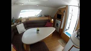 Take A Tour Inside Now Zen A 42 Ft Sailing Catamaran