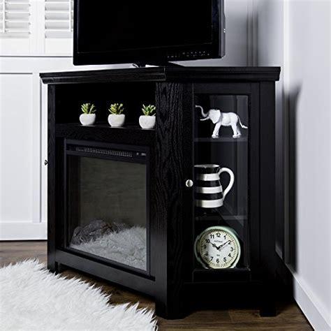 foot wide fireplace tv stand corner unit black