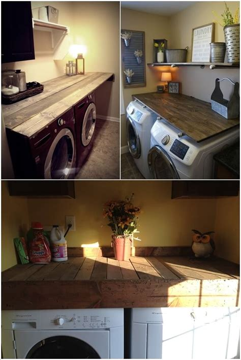 decorate  laundry room  pallets