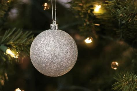 christmas tree with silver ornaments silver ball ornament on christmas tree free stock photos in jpg format for free download 1 94mb