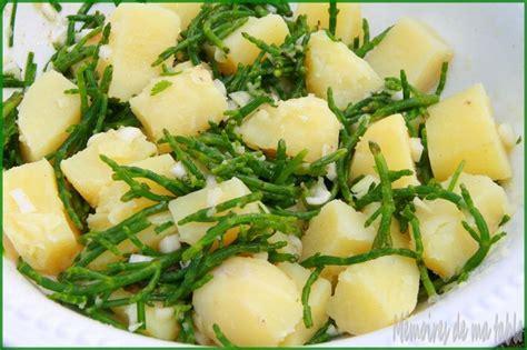 salicorne cuisine salicornes et pommes de terre