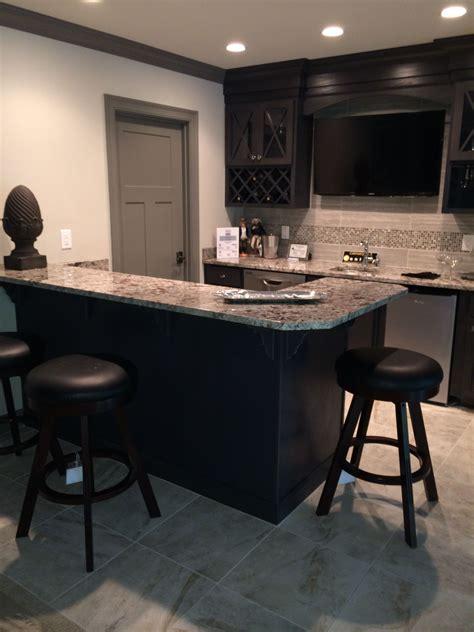 Bianco Antico Granite Countertops With Espresso Cabinets