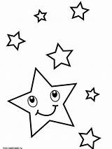 Coloring Pages Star Printable Template Mycoloring sketch template