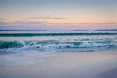 Waves Sea Calm Ocean Sand Morning Sky