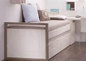 Lit Avec Tiroir De Rangement : lit compact avec tiroir et rangement design scandinave chez ksl living ~ Teatrodelosmanantiales.com Idées de Décoration