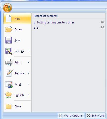 creating resume in ms word 2007