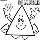 Triangle Coloring Pages Print Triangle2 sketch template