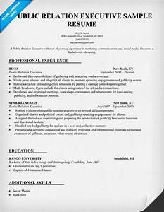 public relation executive resume sample resumecompanion With executive resume builder
