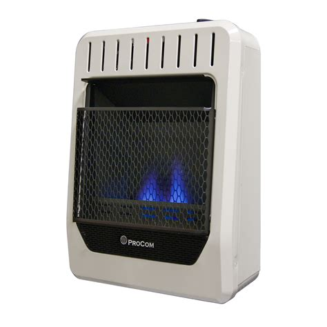 Ventless Dual Fuel Blue Flame Wall Heater  10,000 Btu
