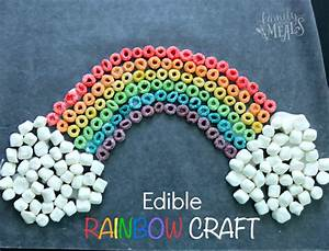 St Patrick's Day Edible Rainbow Craft - Family Fresh Meals