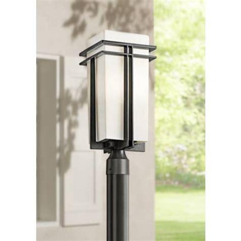 pictures of kitchen light fixtures tremillo energy efficient 20 quot high black outdoor post 7466