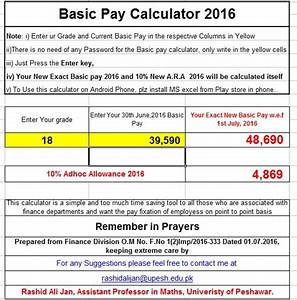 Revised Basic Pay 2016 Calculator Final | Galaxy World