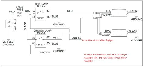 pilot driving lights wiring diagram how to wire or hook up fog lights readingrat net