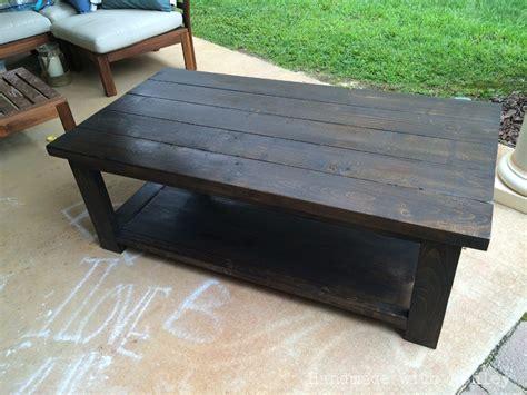 Diy Rustic X Coffee Table (plans By Ana White) Handmade