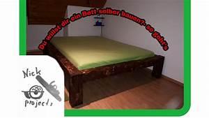 Massivholz Bett Selber Bauen Anleitung : bett aus massivholz selber bauen diy 1 youtube ~ Watch28wear.com Haus und Dekorationen