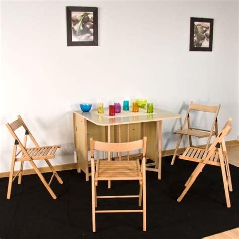 table de cuisine pliante avec chaises intégrées table console avec chaise integree