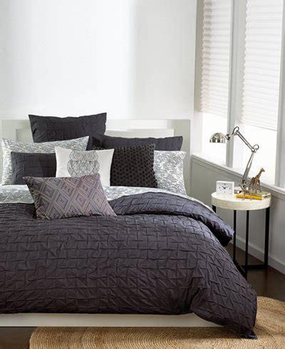 34101 bar iii bedding bar iii box pleat carbon comforter bedding