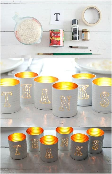 jaw dropping ideas  upcycling tin cans