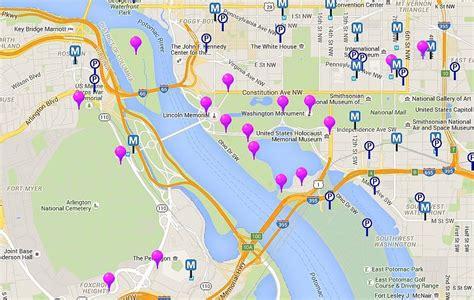 map  monuments  memorials  washington dc