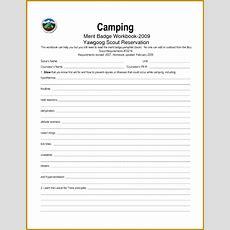 5 Camping Merit Badge Worksheet Fabtemplatez