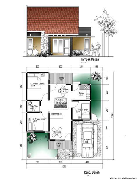 denah rumah tinggal minimalis design rumah minimalis