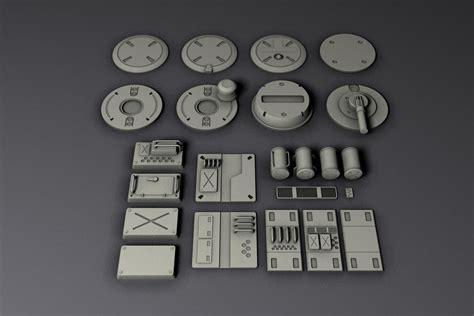 3D model Sci Fi parts I | CGTrader