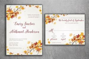 autumn wedding invitation fall wedding invitation With images of fall wedding invitations