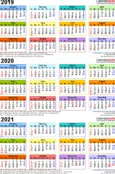 year calendar  printable word templates
