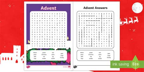 advent word search activity teaching resource twinkl