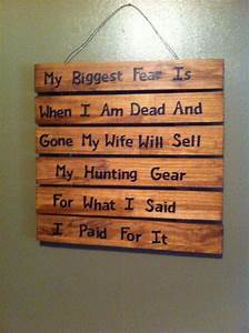 Funny, Hunting, Wife, Sign, On, Etsy, 30, 00