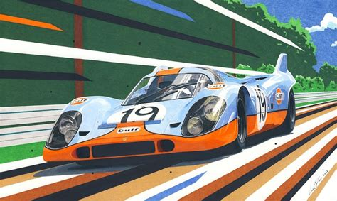 porsche 917 art gulf porsche 917 by klem on deviantart
