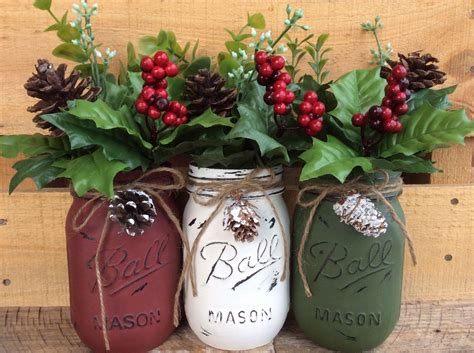 christmas mason jars mason jar christmas set christmas