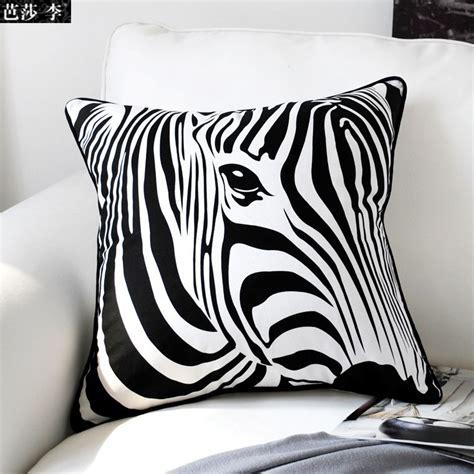 aliexpress buy black white zebra cushion cover