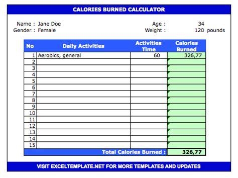 calorie tracker spreadsheet exceltemplatenet