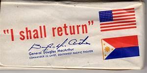 """""""I Shall Return"""" - Cigarette Pack Collectors' Association"""